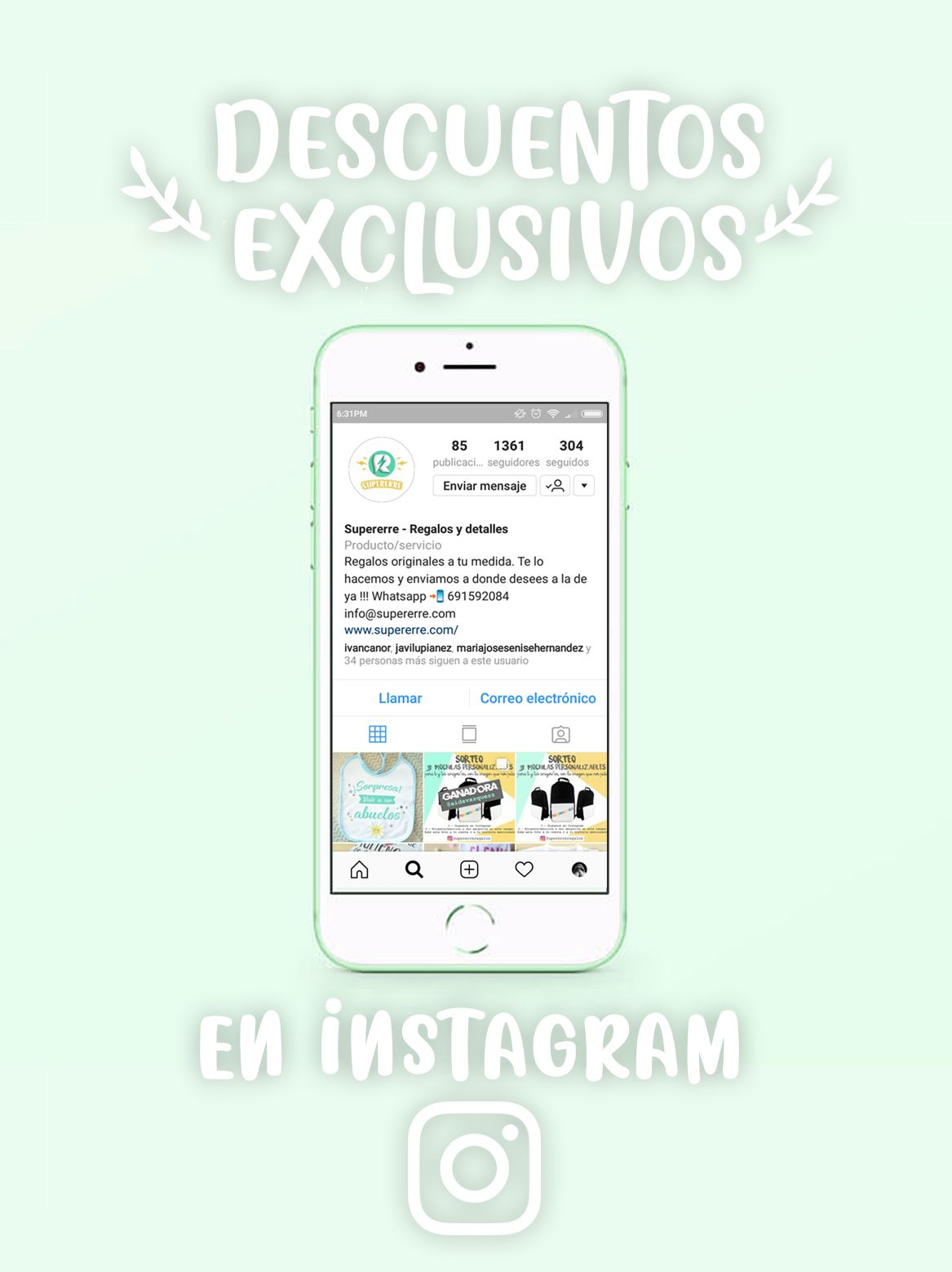 Supererre Descuentos exclusivos en Instagram