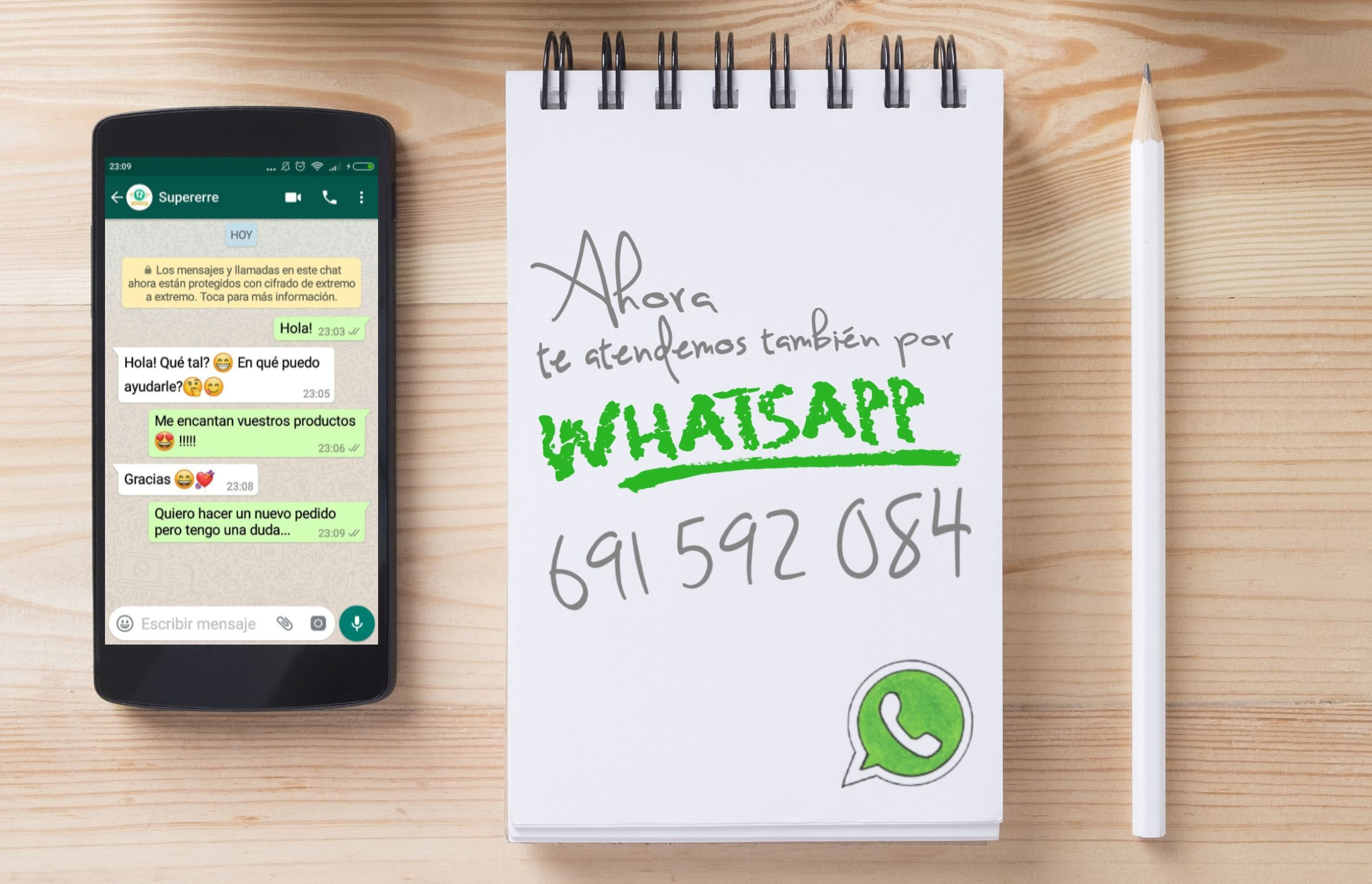 Supererre Atencion al Cliente via Whatsapp